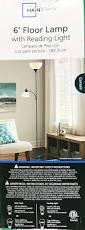 Mainstays Floor Lamp Bulb by Mainstays Corsair Floor Lamp With Reading Light 72