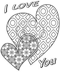 I Love You 2 Hearts Coloring Page That Is A Printable Instant Download Great Gift