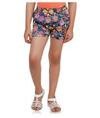 oxolloxo multicolor polyester shorts buy oxolloxo multicolor
