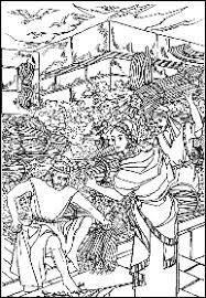 Rahab Hides The Spies Fun Cartoon Booklet To Colour Scroll Down Activity 301 One Page Mini Or Full Size 8 Story About Mission Of