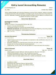 Accounting Resume Examples 2016 Cpa Finance Internship Sample No Experience Entry Level 1 Simple