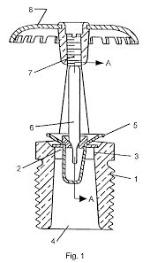 patent ep0838242a2 thermally responsive frangible bulb