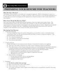 Resume Examples For Teachers No Experience Of On Work Re Full Size