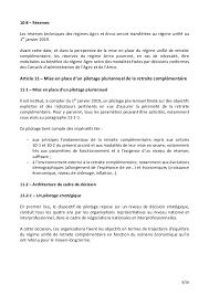 retraite arrco cadre ta accord sur les retraites complementaires ouvert à la signature le 30