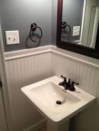 Beadboard Wainscoting Bathroom Ideas by Half Bath Remodel With Beadboard Wainscoting Simple Beautiful