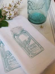 Easy Mason Jar Tea Towels