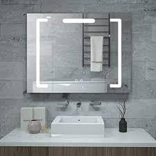 janboe badezimmer spiegelschrank mit beleuchtung schrank 80cm breit mit touch schaltern für farbwechsel dimmer und antibeschlagfunktion