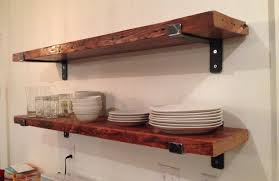 Brackets For Reclaimed Wood Shelveskitchen Shelf Wall Kitchen