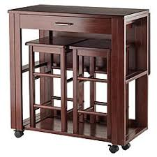 Winsome Wood 3 Pc Space Saver Set In Walnut Finish
