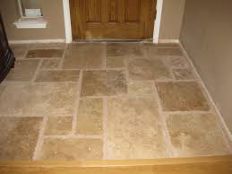 once upon a cedar house installing travertine tile in the kitchen