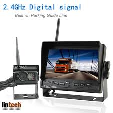 100 Truck Camera System 24ghz Digital 7 Inch With Parking Guide Line 120 Degree Wireless