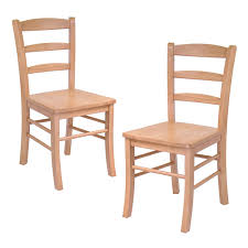 dining wood side chairs in light oak finish