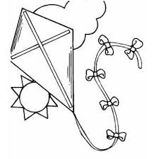 Kite Coloring Page Free Printable