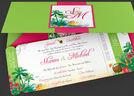 Wedding Hawaiian Boarding Pass Invitation Template