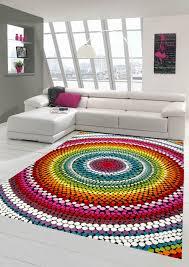 teppich modern wohnzimmer teppich regenbogen bunt ebay
