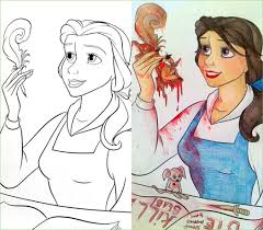 Coloring Book Corruption Belle Beast