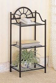 Interesting Wrought Iron Bathroom Shelf With Corner Rack Foter