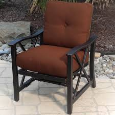 Agio Patio Furniture Cushions by Agio Haywood Outdoor Stationary Spring Chair With X Casting And