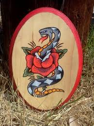 Snake Rose Influenced By Sailor Jerry