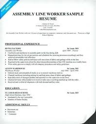 Resume For Factory Worker By Pin On