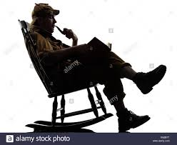 Sherlock Holmes Reading Silhouette Sitting In Rocking Chair ... Tanabata Valentines Day Couple The Man Woman Carpet Old Man Smoking In Rocking Chair By F Laucke Pty Ltd 574405 Corda Rocking Chair Rests Image Photo Free Trial Bigstock Silhouette Of Lady Sitting In Rocker Cigar Isolated Mustache Top Hat Vintage Stencil Left Side Tilted Vector Art 1936 Downloads Pin On Outofcopyright Black Pictures Download Images Unsplash