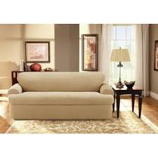 Sure Fit Scroll T Cushion Sofa Slipcover by L Shaped Couch Covers Wayfair