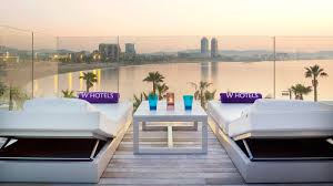 100 W Hotel In Barcelona Spain The Most Glamorous Private Terrace ExtremeO Cabana