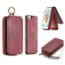 CaseMe iPhone 8 iPhone 7 Wallet Case with Detachable TPU PC Slim Back Case