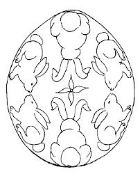 Easter Coloring Pages Eggs With Bunnies Lines