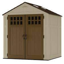 Plastic Storage Sheds At Menards by Suncast Everett 6 Ft 8 In X 5 Ft 6 In Resin Storage Shed