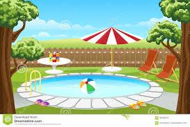 Backyard Pool Stock Illustrations 303 Vectors Clipart