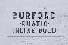 Burford Rustic Inline Bold