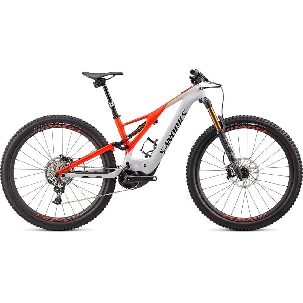 Specialized S-Works Turbo Levo Dove Grey / Rocket Red / MD