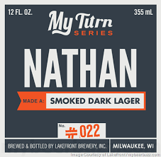 Lakefront Brewery Pumpkin Lager by Lakefront Brewery My Turn Series Nathan Smoked Dark Lager