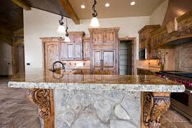 Kitchen Island Ls Stained Solid Wood Cabinets Beautiful Island With Detailed