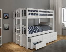 Twin Over Twin Bunk Beds With Trundle by Acme Micah White Bunk Bed Twin Over Twin With Trundle Urban