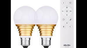 albrillo e26 led dimmable bulb 7w 60 watt equivalent with remote