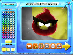 Free Download Angry Birds Space Coloring Screenshot 1