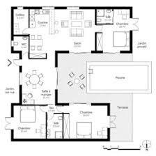 plan maison u plan de maison moderne en u