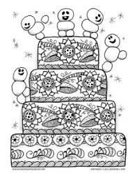 Coloring Page For Adults And Grown Ups Inspired By Frozen Fever Featuring A Charming Birthday Cake