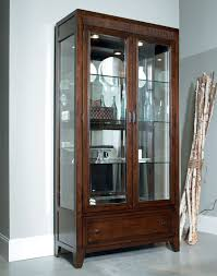 Gorgeous Glass Door Design For Display Dining Room Cabinet Furniture 2 Drawers Underneath
