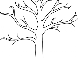 Tree Trunk No Leaves Coloring Page