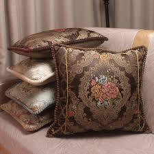coussin de luxe pour canapé de luxe hommage soie jacquard coussin décoratif couvre brève floral