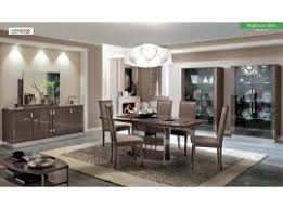 Platinum Slim Dining Room Set In Brown Made Italy