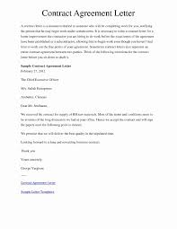 Agreement Letter Format For Business