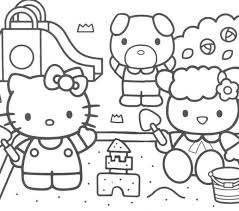 Kitty Coloring Hello Pages
