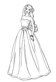 Awesome Barbie Doll Coloring Page