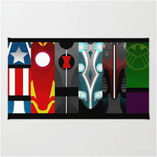 Pop Art Design Marvel Avengers Bedroom Area Rug – Superhero Sheets