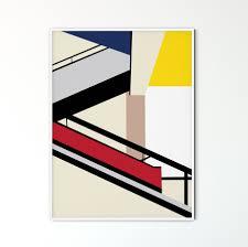 100 Bauhaus Style Minimalist Modern Geometric Abstract Wall Art