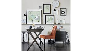 lowe persimmon leather dining chair crate and barrel